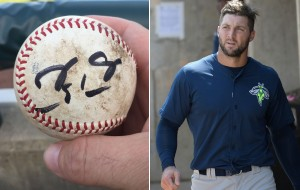 Tim Tebow's Bad Throw Becomes Souvenir For Fan He Hit In The Groin