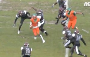 VIDEO: Florida High School QB Jukes Out An Entire Defense