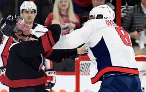 Alex Ovechkin Throws Knockout Punch On Andrei Svechnikov