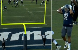 Rice misses potential winning FG with quadruple doink you have to see to believe