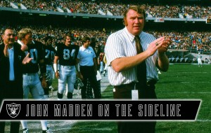John Madden Was the Ultimate Character While Coaching On the Raiders' Sideline